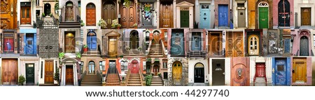 collection of doors in New York and London
