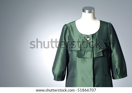 collection of dress on light background
