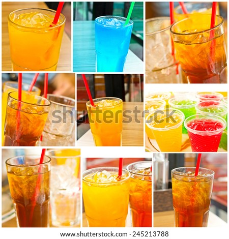 collection of drink, Healthy drinks - stock photo