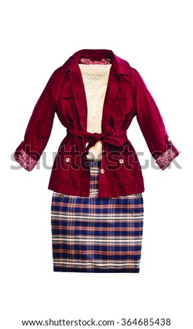 collection of fashion dress - stock photo