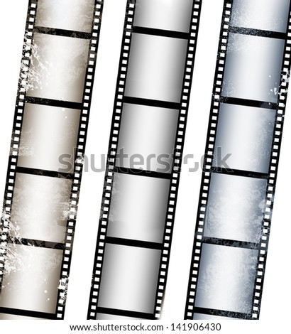 collection of film strip - stock photo
