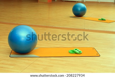 collection of fitness equipment  - stock photo