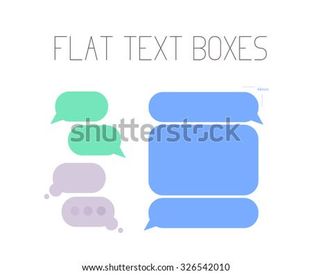 Collection of flat text balloons. Interface design elements. - stock photo