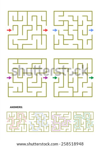 Simple Maze Stock Illustrations & Cartoons | Shutterstock Simple Square Maze