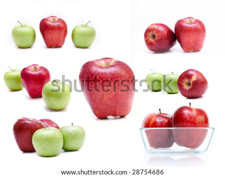 collection of fresh apples
