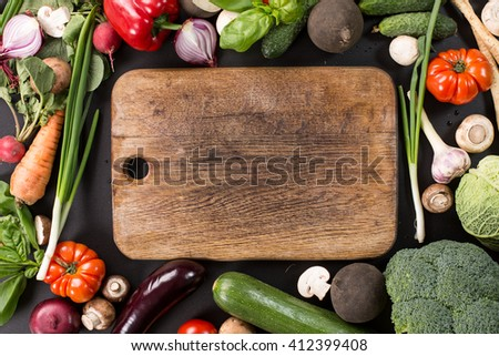 Collection of fresh vegetables