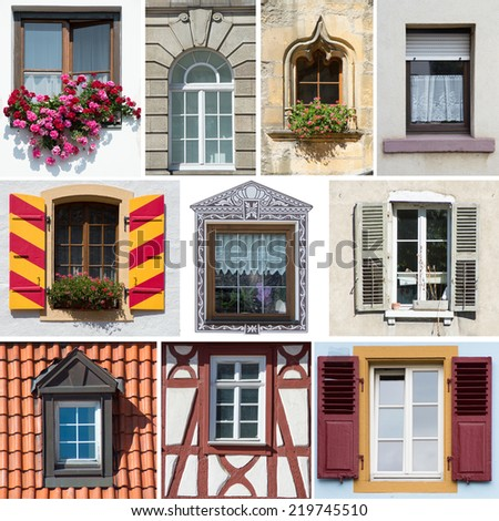 collection of German windows