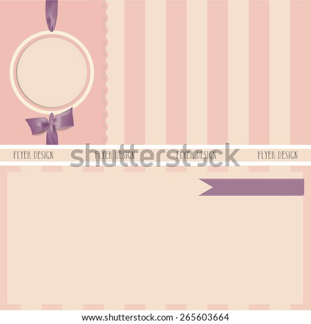 Collection of gift cards and invitations with ribbons. background - stock photo