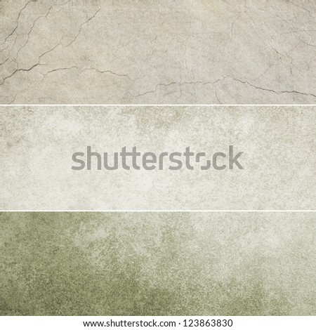 Collection of gray abstract vintage backgrounds. Various textures. - stock photo