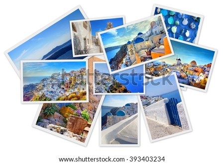 collection of images from the beautiful Greek islands    - stock photo