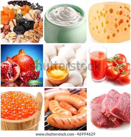 """collection of images on the theme of """"food"""" - stock photo"""