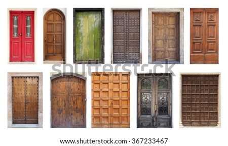 Collection of Large European Antique Doors Isolated on White & Old Door Stock Images Royalty-Free Images \u0026 Vectors | Shutterstock Pezcame.Com