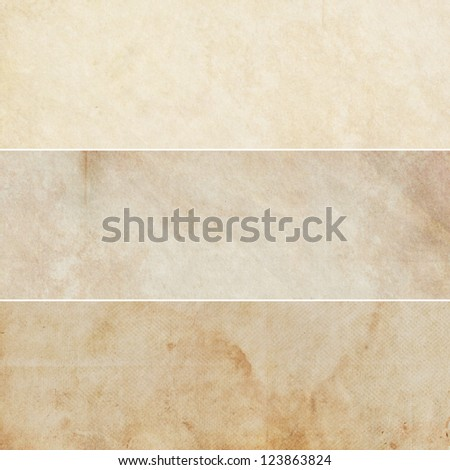Collection of light brown abstract vintage backgrounds. Various textures. - stock photo