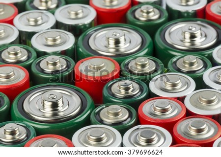 Collection of old polluting non rechargeable batteries