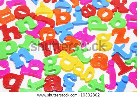 Collection of Plastic Alphabets