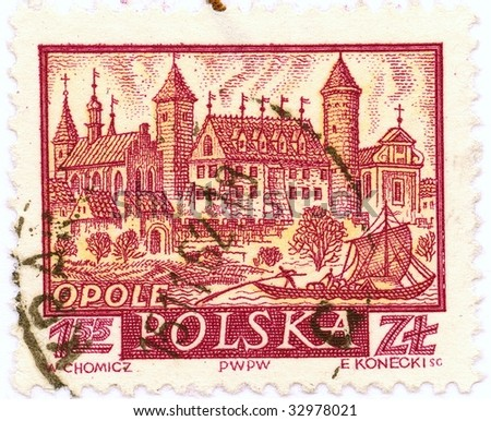 Collection of Polish stamps - medieval Opole