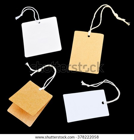 collection of price tag label on black background