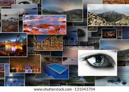 Collection of several stock photos with holidays concept - stock photo