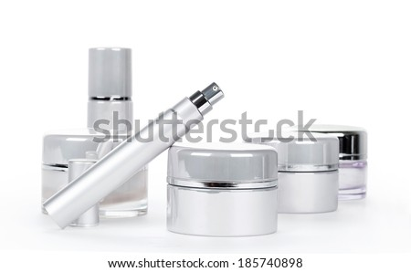 Collection of skincare spa products. Beauty concept - stock photo