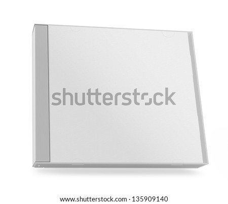 collection of various blank white paper cd box on white background