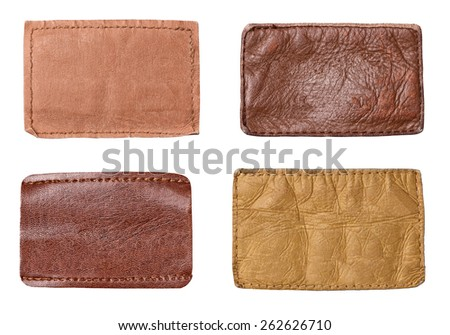 collection of various  jeans parts on white background. each one is shot separately. - stock photo
