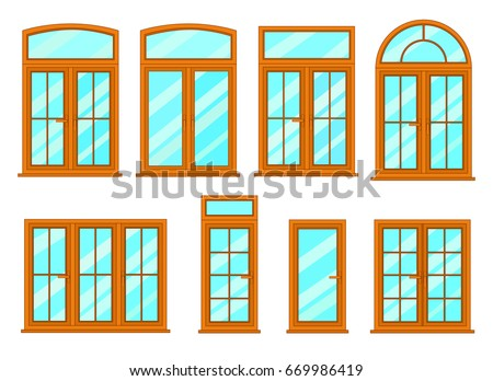 Collection various modern windows types interior stock for Types of modern windows