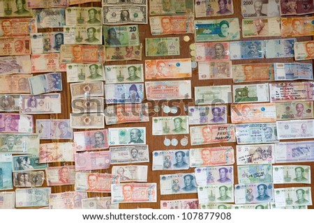 Collection of various money to background. - stock photo