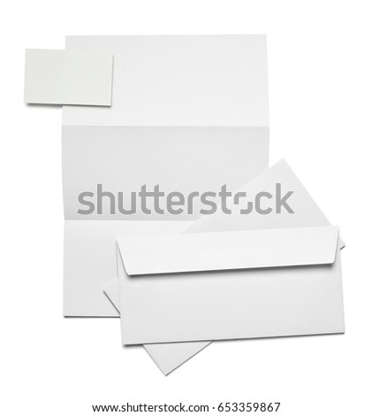collection of  various white business print, pencil,fold back clip templates on white background. each one is shot separately
