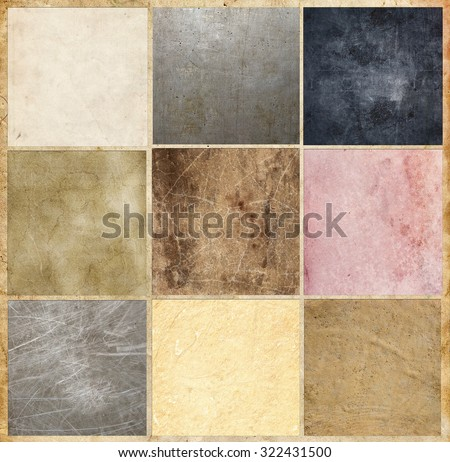 Collection of vintage and grunge backgrounds - stock photo