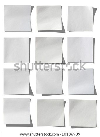 Collection of white notes. - stock photo