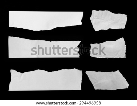collection of white torn paper - stock photo