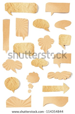 Collection paper speech bubble - stock photo