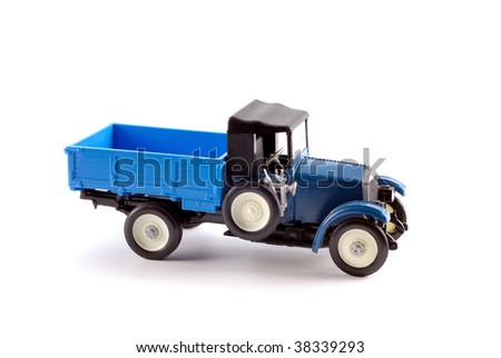 Collection scale model of the truck on a light background 1918-1920 - stock photo