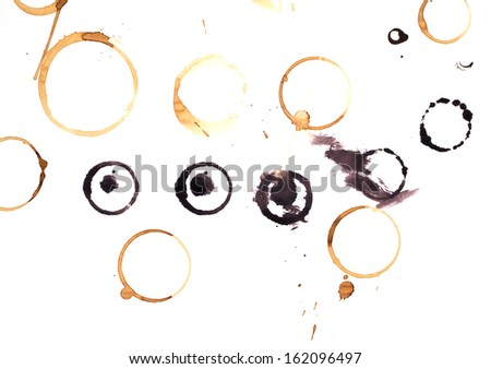 Collection stains of coffee for grunge design