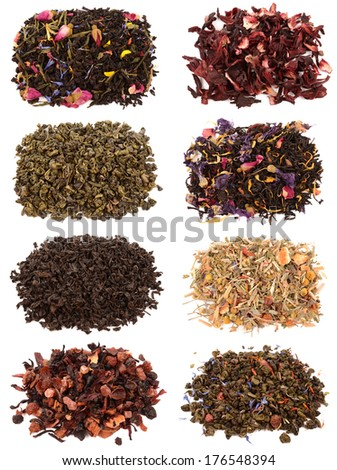 Collection tea - stock photo