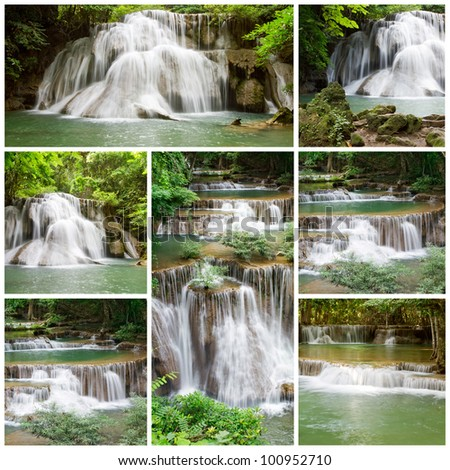 Collection waterfall - stock photo