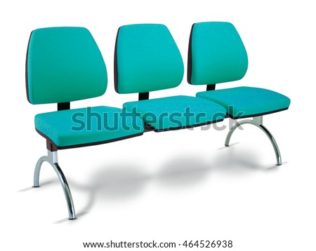 collective waiting seat isolated on white background