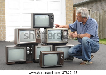 Collector of old TV sets