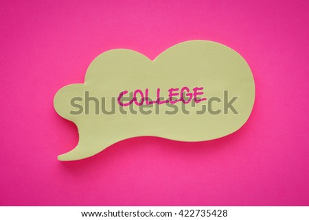 College - stock photo