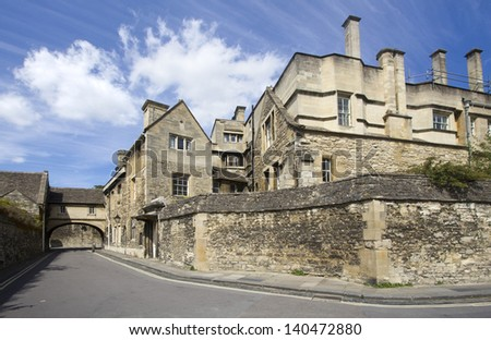 College buildings in Oxford, UK - stock photo