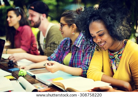 College Communication Education Planning Studying Concept - stock photo