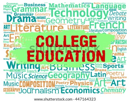College Education Showing Study Courses And Universities