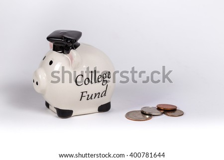 College Fund Piggy Bank - stock photo