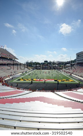 COLLEGE PARK, MD - SEPTEMBER 19: Byrd Stadium, home to the Maryland Terrapins football team, shown prior to a NCAA football game September 19, 2015 in College Park, MD.