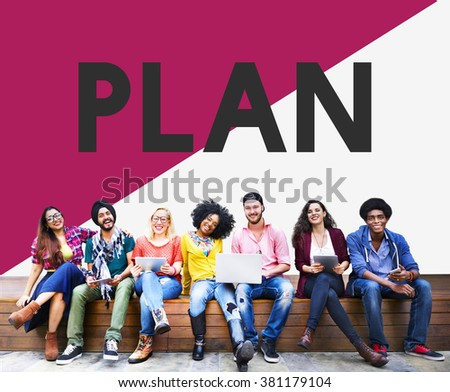 College Student Plan Planning Studying Concept - stock photo