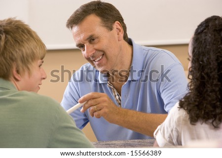 College teacher giving a lecture