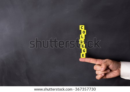 COLLEGE word with in form of stacked blocks - stock photo