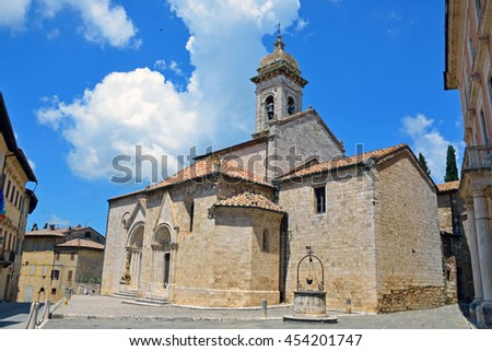 Collegiate Church of San Quirico d'Orcia in Italy