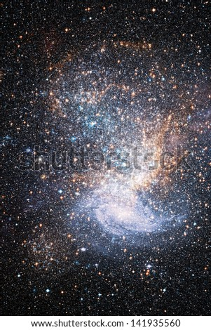 "Colliding galaxies. ""Elements of this image furnished by NASA"" - stock photo"