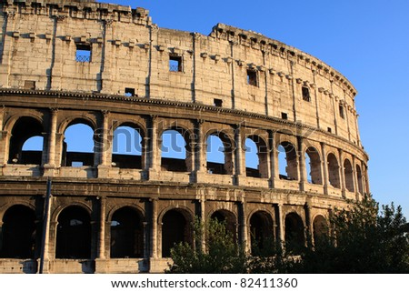 Colloseum (Coliseum)  is an amphitheater in the center of Rome, Italy